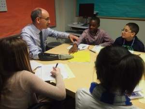 Dr. Esquenazi talks with student reporters.