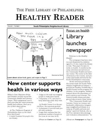 Free Library offers summer newspaper experience